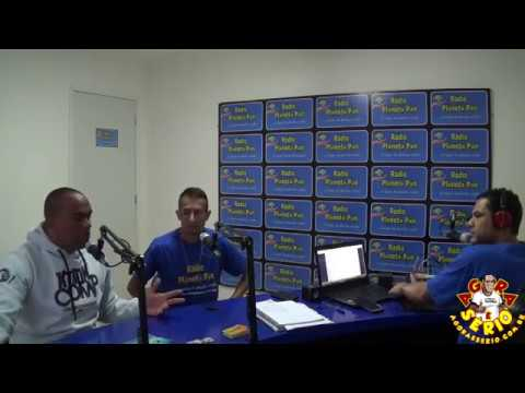 Repórter Favela na rádio Planeta Pan de Juquitiba