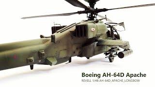 Revell 1/48 Skala Apache AH-64D Langbogen