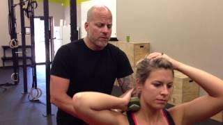Self Massage or Myofascial Release for the Neck