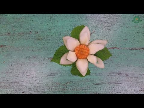 How to make Cubcumber flower (05)