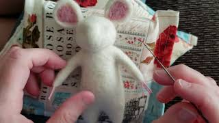 Needle Felting Mouse WIP