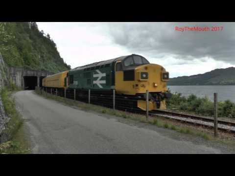 Class 37's return to the Highlands - 37025 & 37219 on Invern…