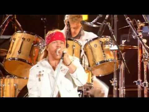 Queen Axl Rose We Will Rock You Tribute Freddie Mercury