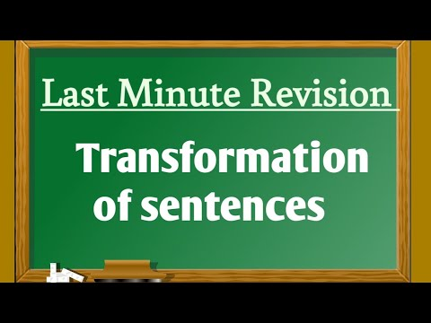 Download Last minute Revision : Transformation of sentences Mp4 HD Video and MP3