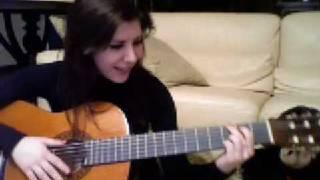Me Singing Bleeding Love + Playing Guitar YAY!!! (COVER)