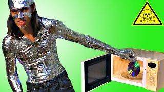 Что будет если ВКЛЮЧИТЬ ОТКРЫТУЮ МИКРОВОЛНОВКУ. Насколько опасно СВЧ излучение от магнетрона?