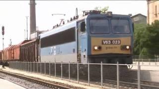 preview picture of video 'Vonatok Tatabánya és Győr között l Trains in Tatabánya - Győr'