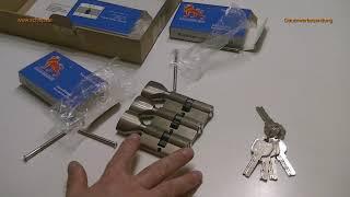Schließzylinder Gleichschließend,mit Wendeschlüssel und Knauf