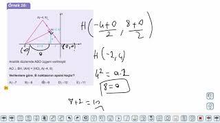 Eğitim Vadisi 11.Sınıf Matematik 6.Föy Analitik Düzlem 2 Konu Anlatım Videoları