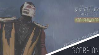 Skyrim Remastered -  Mortal Kombat Scorpion Texture Mod! (Skyrim Mod Showcase)