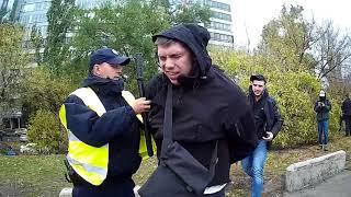 Драка с полицией на Центральном мосту