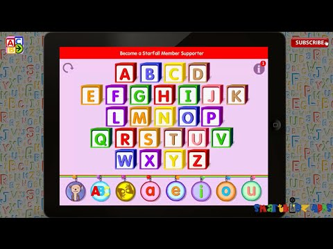 ✿★Starfall ABCs By Starfall Education★✿ Free app learning alphabets phonics kids ipad Part 1 review