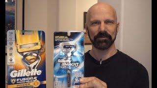 Gillette Razor Comparison: Mach 3 Turbo vs Fusion 5 Proshield Power