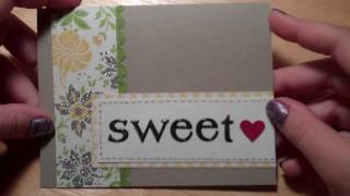 Simple Sweetest Day card for Hubby!