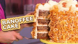 BANOFFEE MEGA CAKE   Banana & Toffee Yum!!   How To Cake It