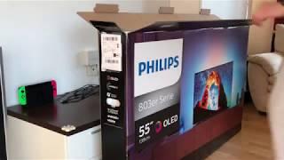 My 4K HDR OLED TV (Philips 55OLED803) - Unboxing Philips OLED 803