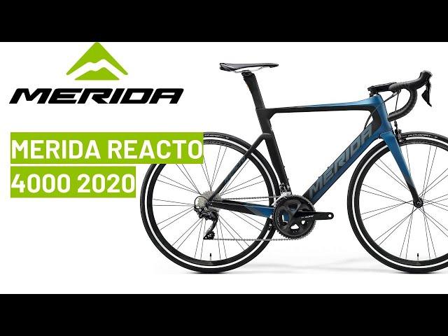 Видео Велосипед Merida Reacto Disc 4000 matt blue/black