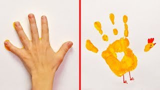 13 EASY HAND AND FOOT PRINT ART