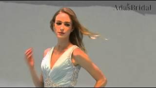 Chiffon V-neck Full-length A-line Prom Dress - Adasbridal (SOD45946)