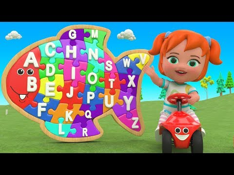 Little Baby Fun Learning Alphabets ABC Song for Children – Color ABC Puzzle Wooden Toy Set 3D ...
