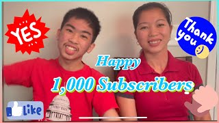 Happy 1,000 subscribers and shout outs!
