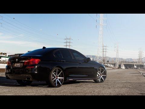 2015 BMW 550i | Curva Wheels C47 Machined Black