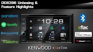 2019 KENWOOD EXcelon DDX396 DVD Multimedia Receiver Unboxing & Feature Highlights