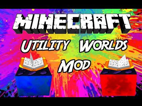"Minecraft Mods: "" Utility Worlds Mod 1.8 /  1. 7. 10 """