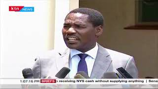 CS Munya says aerial and ground spraying ongoing in a bid to contain the spread of locusts