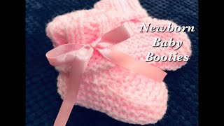 Easy knit baby booties, shoes, socks or boots for beginners - Newborn - 6 months Knitting for Baby 5