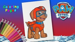 Paw patrol Coloring Page #forKids #Howtodraw Zuma from #PawPatrol Paw Patrol Pups.