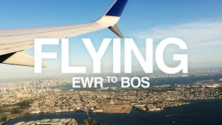 United Airlines Flight from Newark to Boston | Labor Day Weekend