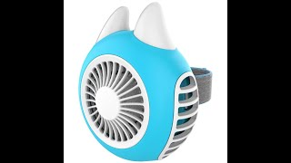 UTMF-001 Turbine USB charged Wearable Mini Fan youtube video