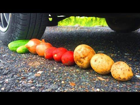, title : 'EXPERIMENT - VEGETABLES VS CAR (Potato, Cucumbers, Onion, Tomato)