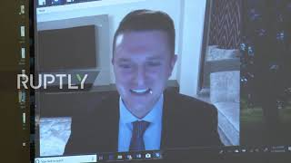 USA: Tommy Robinson Video-link Event Disrupted By Protesters