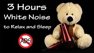 3 Hours White Noise To Sleep | Hair Dryer Sound Compilation 17