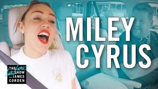 Miley Cyrus Carpool