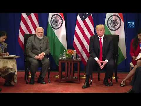 PM Modi and President Trump in a Bilateral Meeting at Manila, Philippines