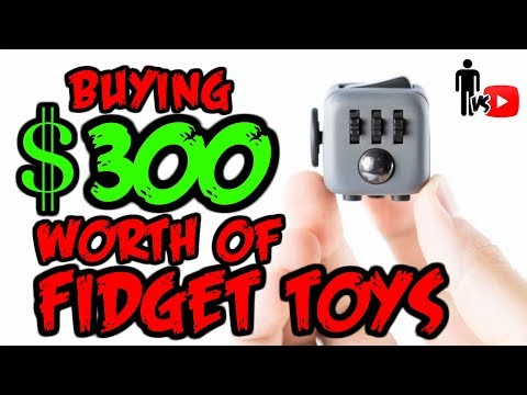 Buying $300 Worth of Fidget Toys - Man Vs Youtube