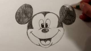 How To Draw MICKEY MOUSE Face EASY