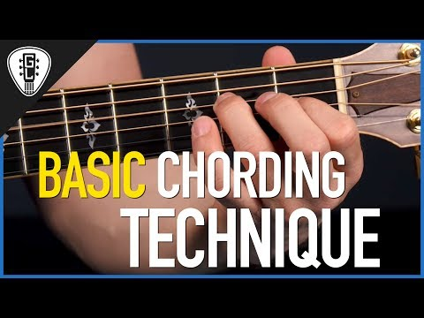 Basic Chording Technique For Guitar - Free Guitar Lesson