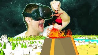 TOSSING HERETICS INTO A VOLCANO + BECOMING THE MOST POWERFUL VR GOD! - DEISIM VR HTC VIVE Gameplay
