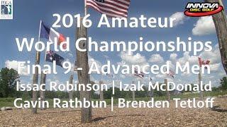 2016 pdga amateur world championships  final 9  advanced men division