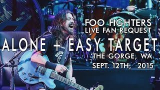 Foo Fighters - Alone + Easy Target live at the Gorge, WA Sept. 12, 2015