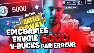 EPIC GAMES ENVOIE 5000 VBUCKS PAR ERREUR
