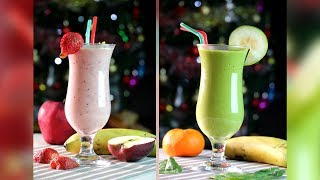 HOW TO MAKE TWO HEALTHY BREAKFAST SMOOTHIES – HOLIDAY MENU – ZEELICIOUS FOODS