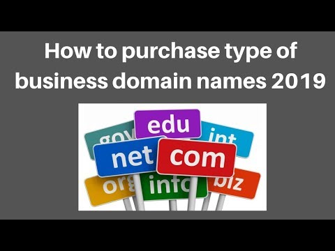 How to purchase type of business domain names 2019