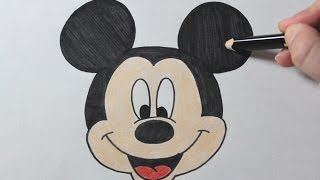 How To Draw Mickey Mouse  - Easy Drawing Tutorial