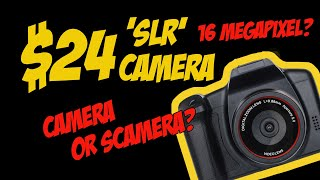 Do Not Buy This $24 Chinese DSLR Camera - Unboxing & Review (SLR Camera On WISH, EBAY Etc)