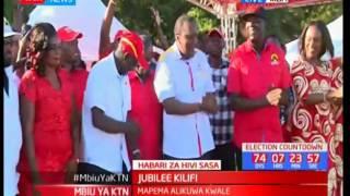 Rais Uhuru Kenyatta aongoza kampeni za Jubilee eneo ya Kilifi